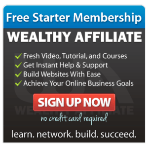 Wealthy Affiliate Free starter membership.