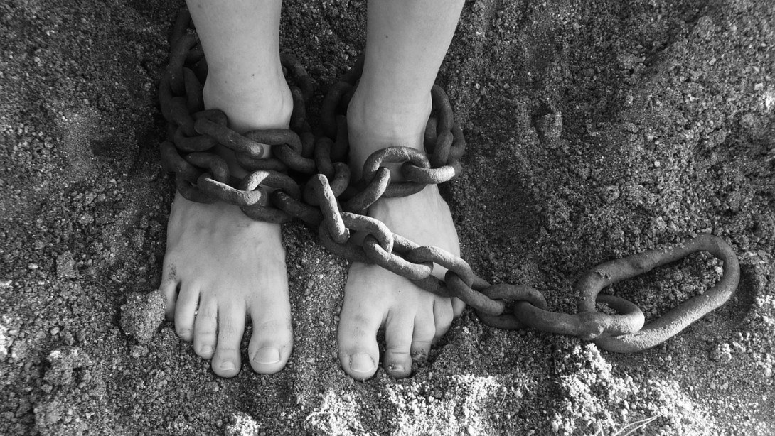 What is Freedom to You? A person in chains