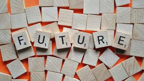 Future written in scrabble tiles