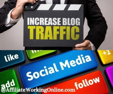 increase blog traffic, social media