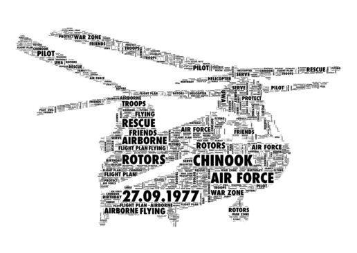 Chinook word art