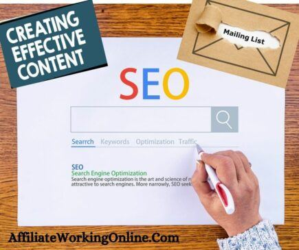 SEO, mailing lists, informational content