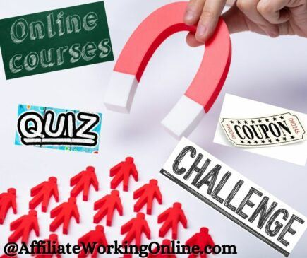 Best Lead Magnets To Build Your Email List. quiz, challenge, coupon, mini course