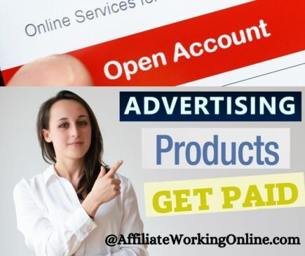 open account, advertise products, get paid