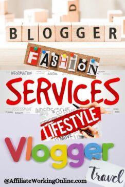 blogger, vlogger, services
