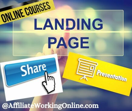 landing page, presentation,share. How to Market and Sell Courses Online