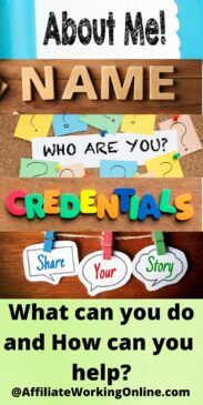 Name, credentials about you. How to Write an About Me Page to Inspire Readers