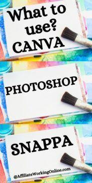 Photoshop, Canva & Snappa