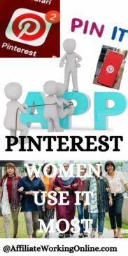 Women use Pinterest most. How to Get Traffic from Pinterest